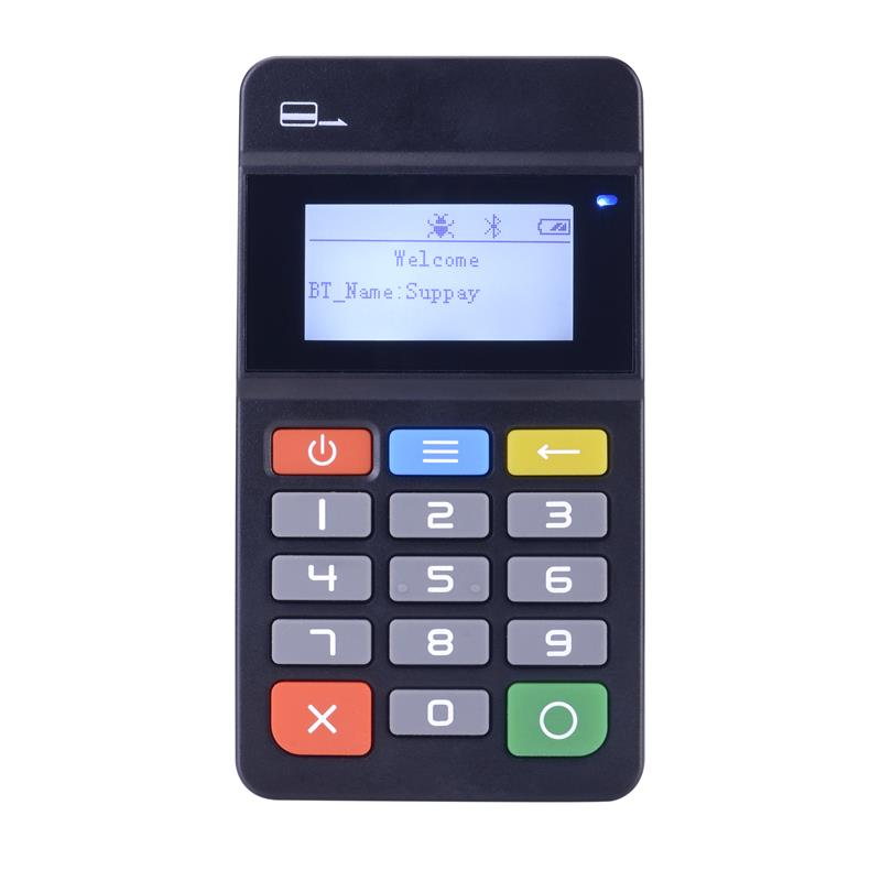 mobile bluetooth pinpad cash register payment terminal MP45