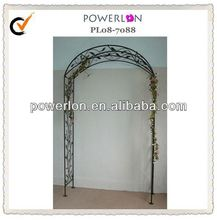 antique black metal home gate arch design For Outdoor