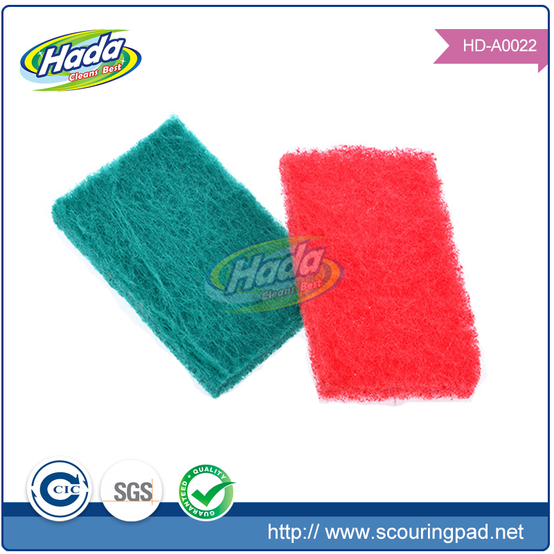 Red industrial recycle raw material of scouring pad