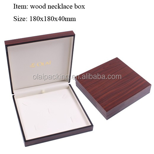 luxury high end lacquered wooden jewelry box, glossy jewellery display box wood,costom jewelry packaging for girl