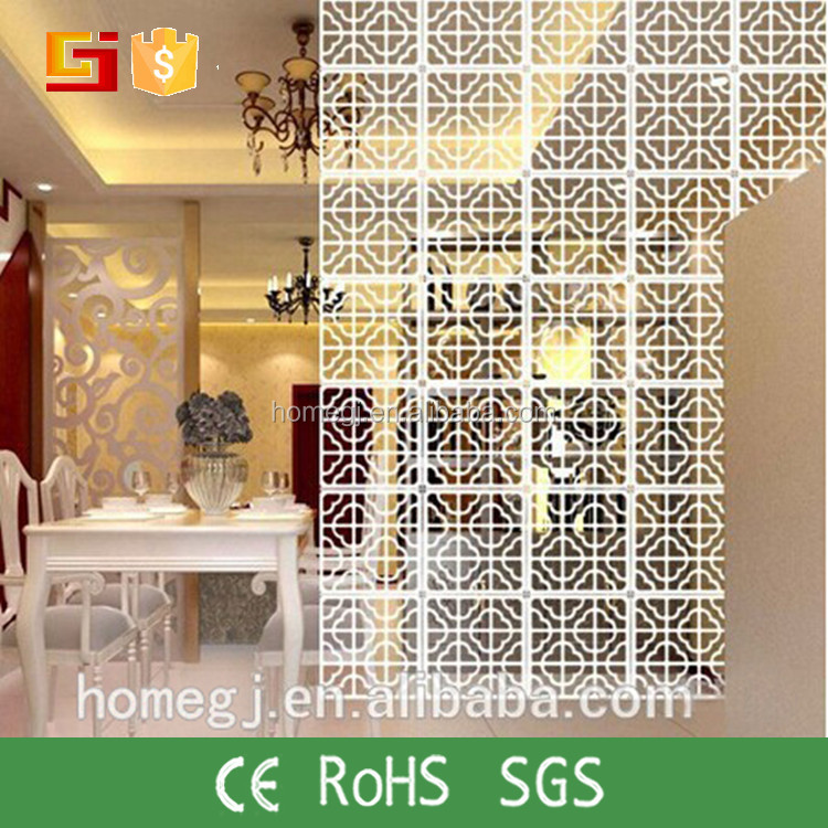 Laser Cut Home Living Furniture wood Room Divider Decorative hanging screen