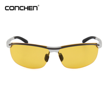 Custom logo men sun glasses night vision sports driving sunglasses