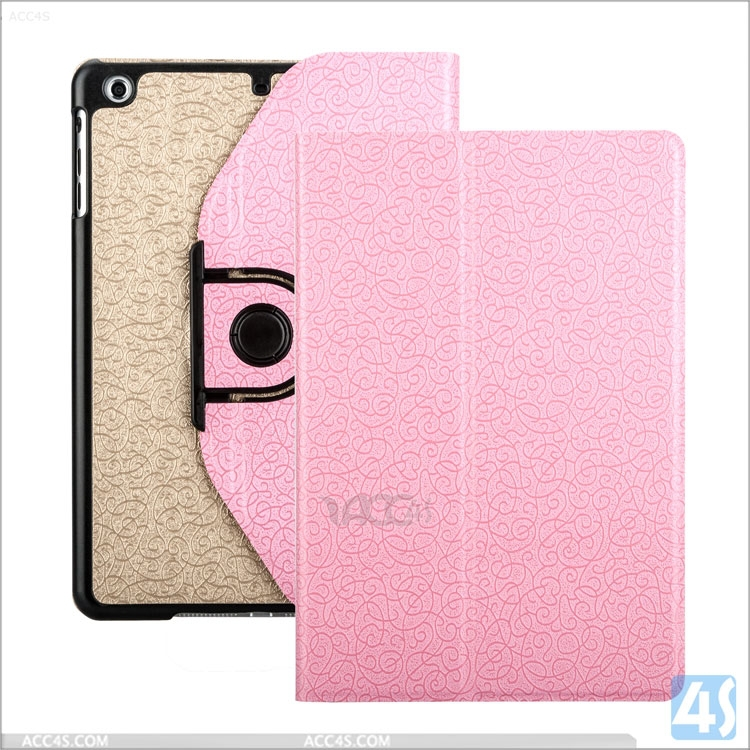 Special Pattern Color Matching Detachable Multi Usage Rotating Leather Case for iPad Mini 2/3