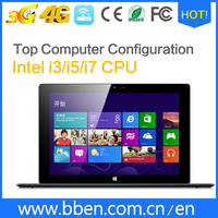 2-in-1 touch screen 11.6 inch tablet pc, windows 10 tablet pc, Intel quad core tablet pc, 3G/4G/WIFI/Keyboard optional
