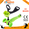 Green color mini 3 in 1 kick scooter for baby and children