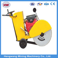 180mm depth concrete slab road cutter machine with 7.5KW motor