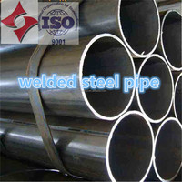 water and oil field carbon steel Black galvanized Welded Steel Pipe