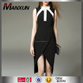 New Arrival Casual Dress Black Sleeveless Fashion Ladies Summer Midi Dress