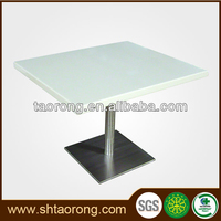 China made modern white restaurant marble top dining table