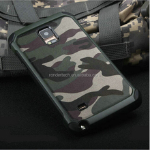Special design camouflage pattern genuine leather phone case for galaxy note 5, for samsung note5 rigid 2in1 durable case