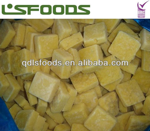 High quality IQF frozen ginger cubes