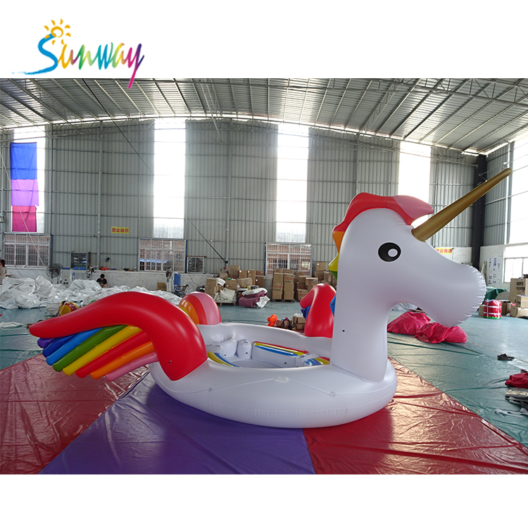 hot sale <strong>water</strong> floats ,floating island ,Inflatable unicorn floats island