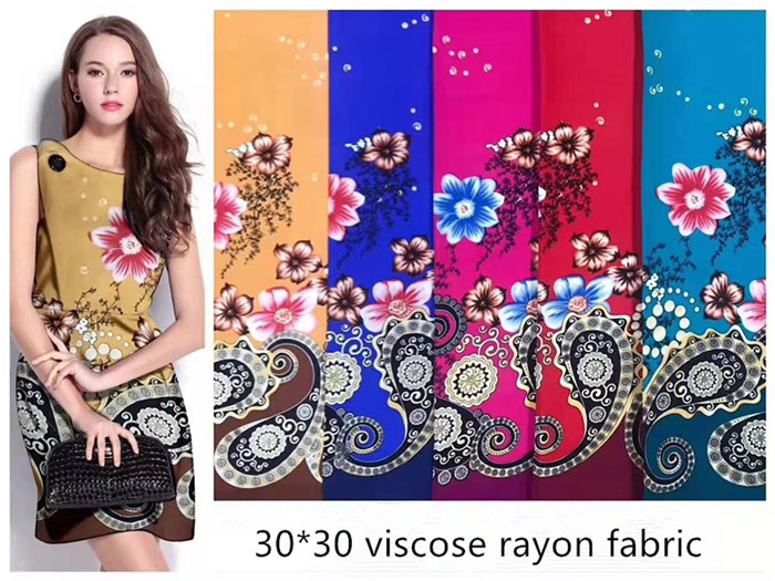 cheap cost 30s and print rayon fabric viscose dress textiles for sarong style