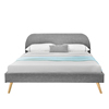 Modern Elegant Simple Home Furniture Bedroom Double Size Fabric Bed with scandinavia style