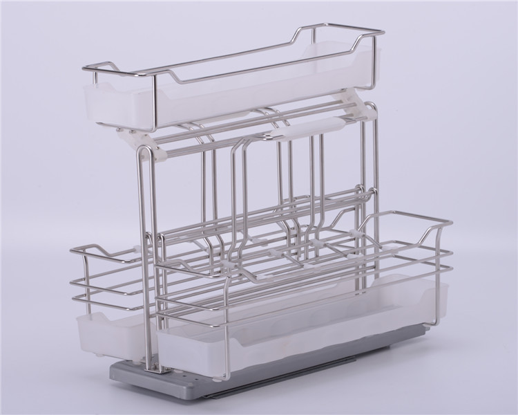 metal iron multiple side storage holders & baskets  for kitchen beverage use