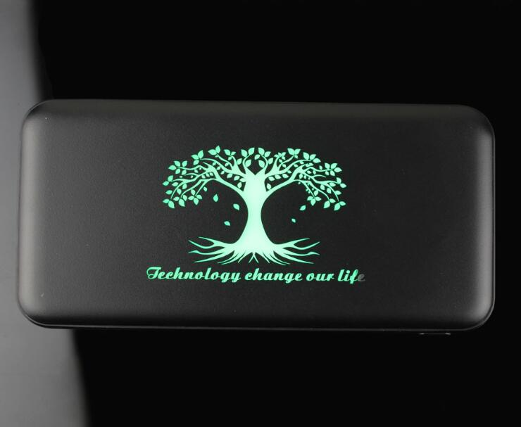 2019 New Portable Power Banks with Lighted Up LED Logo,  5000mAh 6000mAh Dual USB Mobile Charger Power Bank