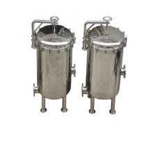 TS Filter Supply 02 Micron Stainless Steel Cartridge Filter Housing Equipment for Mineral <strong>Water</strong>/Juice/Honey/Alcohol Filtration