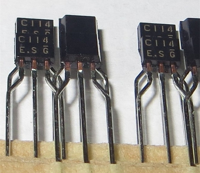 Electronics components MOSFET TRANSISTOR DTC114ESA <strong>C114</strong> TO92S new and original ic chip