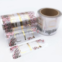 Custom Order Printing Roll Adhesive Logo Gold Foil Hot Stamping Clear Stickers