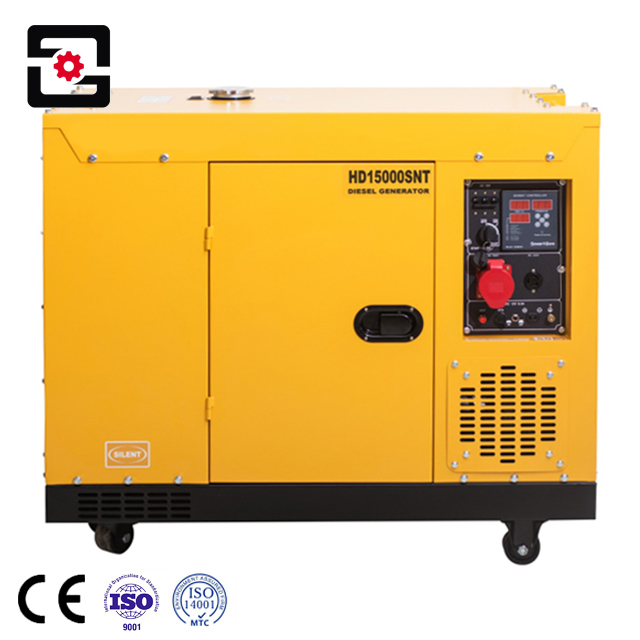 high quality twin cylinder silent small Wind cooling 10kva 10 kw <strong>diesel</strong> generator