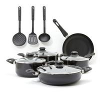 Pressed aluminum camp cook set 12pcs set with kitchen utensils MSF-6214