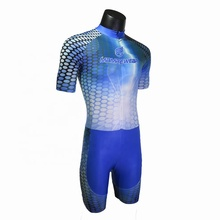 Hotsale custom design sublimation printed speed skating clothing, skating suits, skin speed skate wear