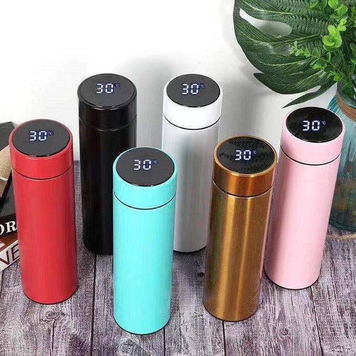 Double Wall Insulated Custom vacuum flask Smart Thermos Water <strong>Bottle</strong> with Led Temperature Display