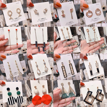2020 wholesale new fashion cheap earrings for women and girls long earrings for teens