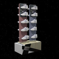 Professional design stainless steel shoes display stand for shoes store