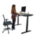 Black Height Adjustable Standing Desk Table Frame without Side Holes