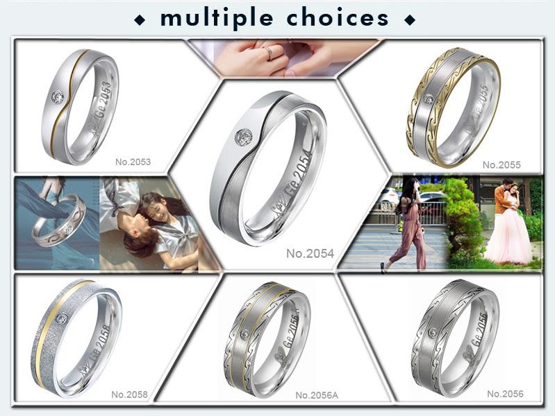 European style wedding rings & engagement rings with diamond & moissanite