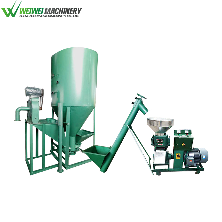 Weiwei powder pellet china manufacture compact feed production line