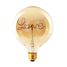New design LED filament bulb with letter word Hello Dream Home Love energy saving G80/95/125 4w 2200k 110-240v