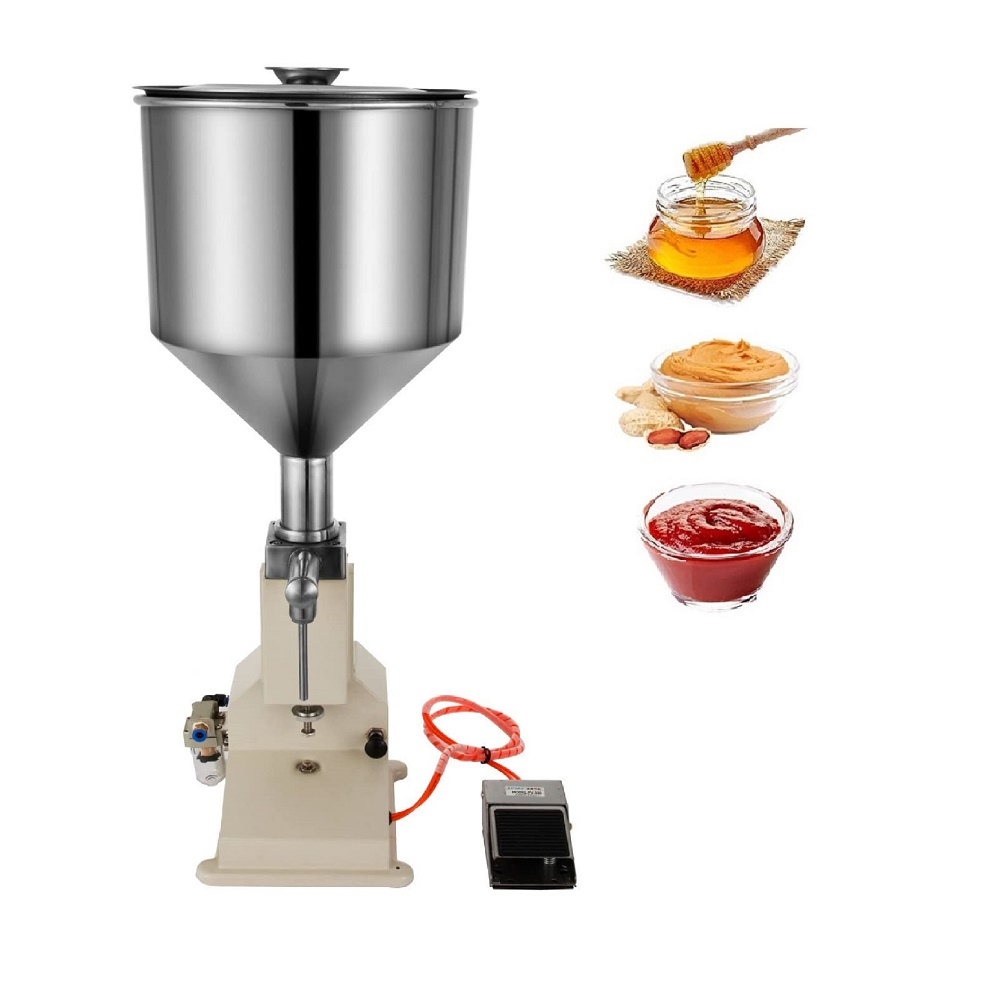 <strong>A02</strong> Small 5-50ml Pneumatic Liquid Filling Machine, Stainless Steel Material,for lip gloss honey oil sausage