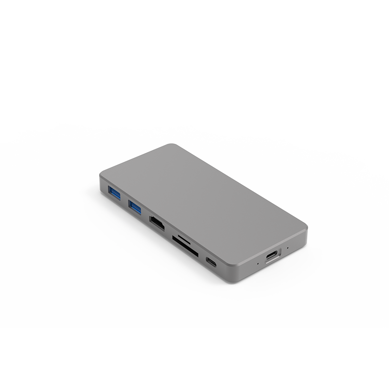 Blueendless MC701usb type <strong>c</strong> hub adapter with ssd 2tb M.2 NVME SSD case Thunderbolt3 port SD TF card reader usb hub 4K HDM I port
