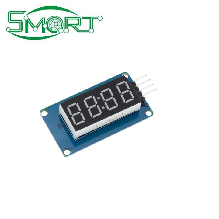 Smart Electronics TM1637 LED Digital Display Module 0.36 inch Red Four Series Controller Package Board