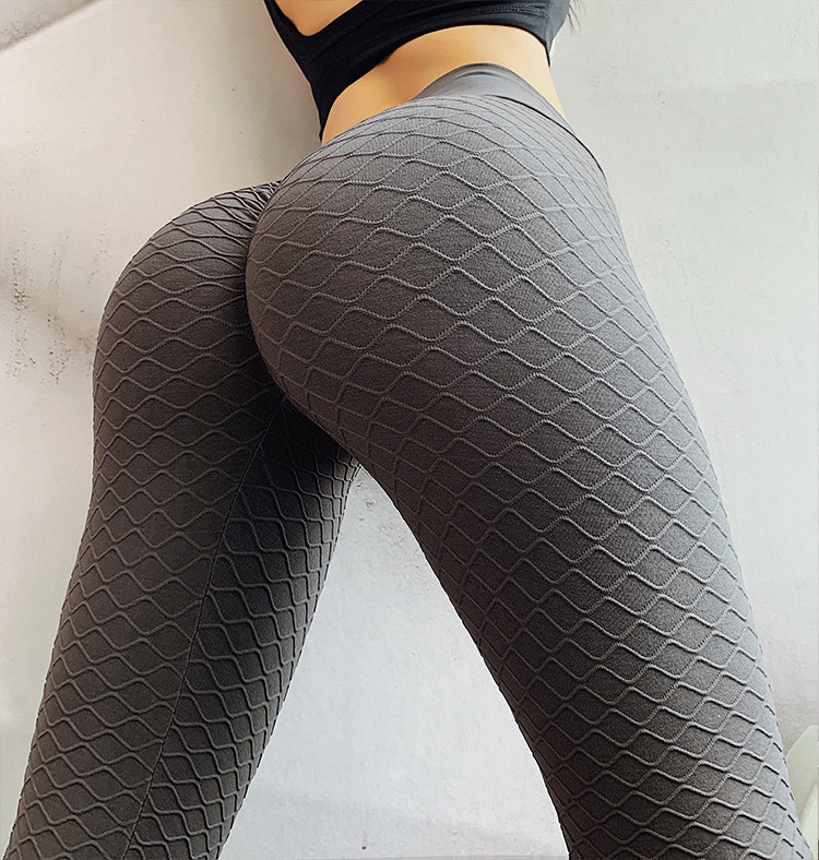 Fitness Sexy Hips Push Up Seamless Anti Cellulite Leggings <strong>Sport</strong> Running High Waist Wavy Line Pants