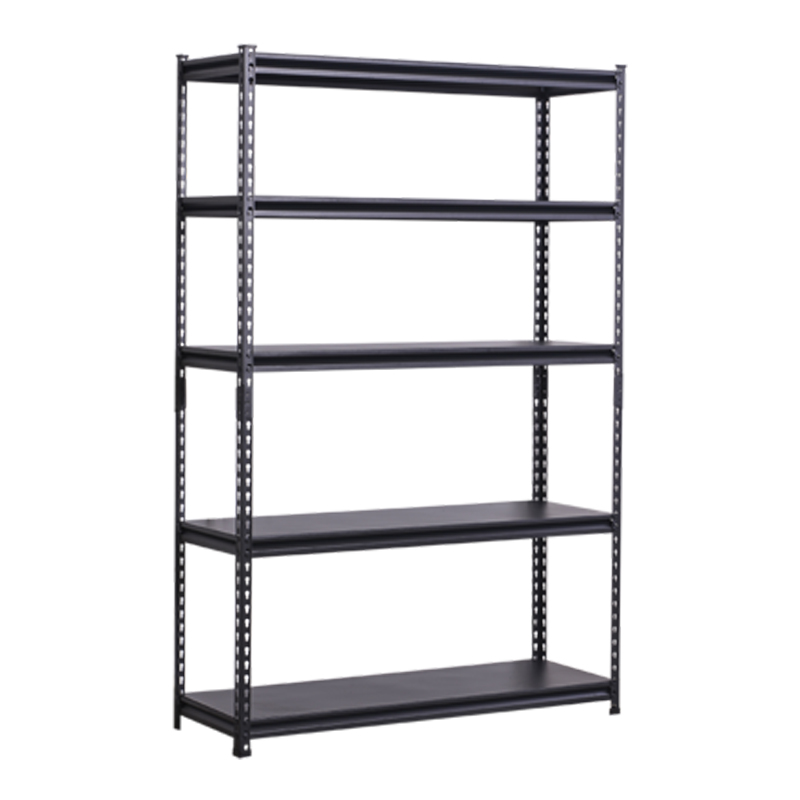 Cheap price Black 5 layer shelf warehouse Angle steel light duty <strong>rack</strong>