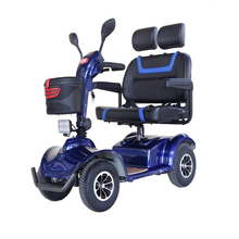 4 wheel 2 seats electric mobility scooters with 12V/38Ah*2battery
