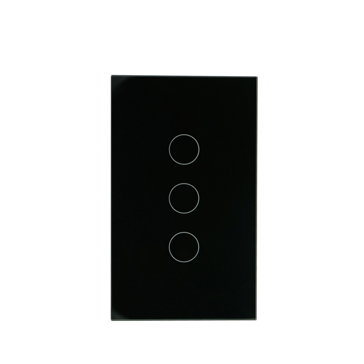 GRSICO IOT Wireless Voice Control 3gang Smart Touch Light Switch Panel with Led Backlight