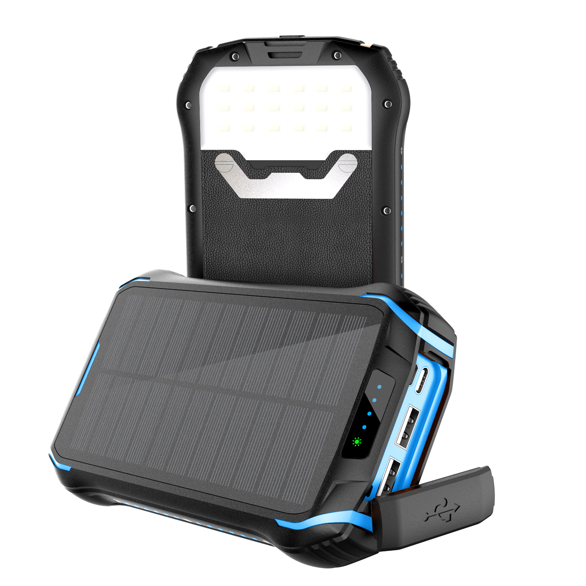 Amazon New Arrival 18W Type <strong>C</strong> Pd Qc 3.0 Power Bank 20000Mah Laptop Solar Charger For Camping