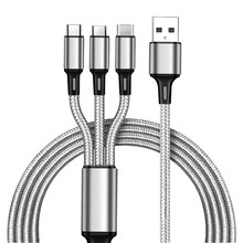 Wholesale usb type c micro 8pin portable 3 in 1 fast charge cable