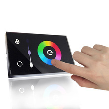 Visual Wall Mounted LED Controller 12V 24V 18A Remote for LED RGB Strip Lighting Touch Panel RGB Controller