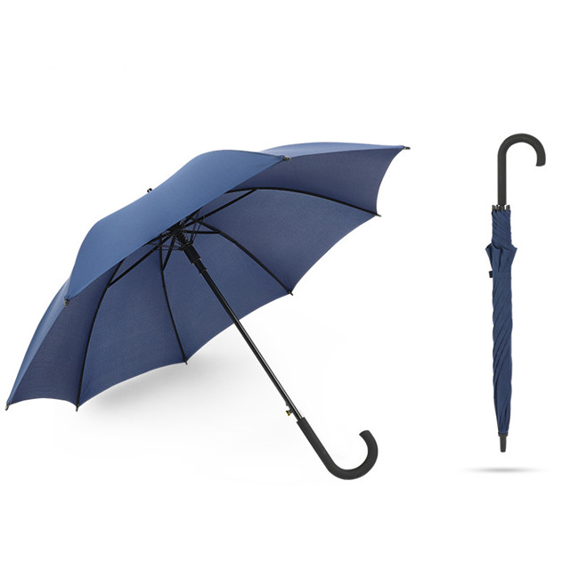 Auto Open Windproof Umbrella with <strong>23</strong> Inch <strong>J</strong> Handle Straight Umbrella for Men Women
