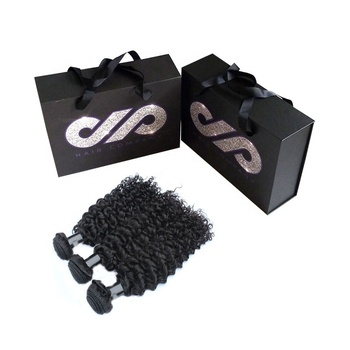 Custom Logo Virgin Weave Bundle Box Hair Extension Packaging