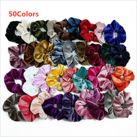 50Colors Fine Cheap Velvet Elastic Hair Bands Scrunchies Hair Rope Women Girls Hair Accessories Wholesales
