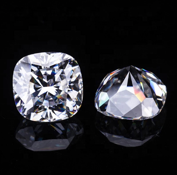 Wholesale artificial diamond gemstone rough cushion <strong>cut</strong> 6mm 1carat moissanite ring stone