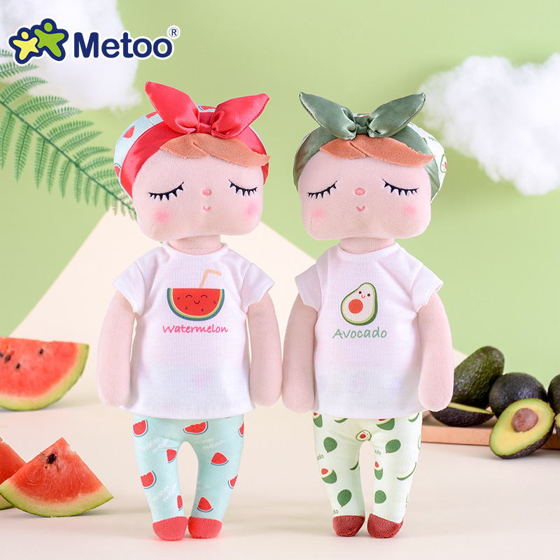 Metoo <strong>Plush</strong>&amp;Stuffed Sweet Rabbit Cute Animals For Children Kids Toys Angela Doll For Girls Birthday Christmas Gift Fruit Series