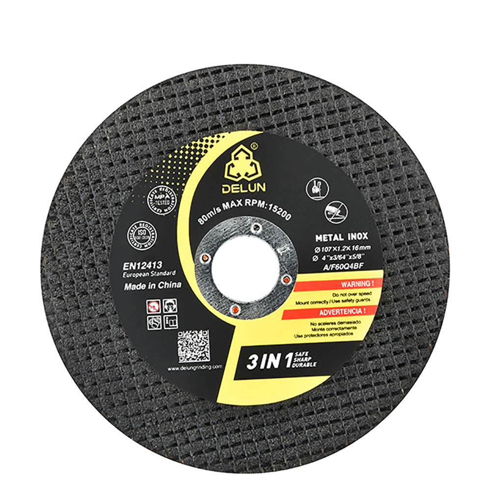 DELUN MPA hot sale black 5inch cut stainless <strong>steel</strong> Cutting Wheel Disc