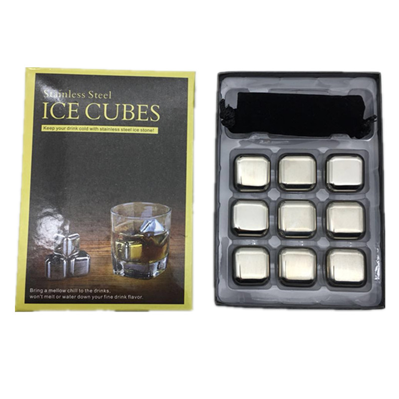Wholesale <strong>Wine</strong> Chilling Cubes Metal Whiskey Stone Stainless Steel Ice Cube for <strong>Wine</strong>